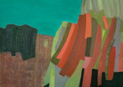 """Donna Scarpa, On The Edge, Oil on linen, 16""""x16"""", $850"""