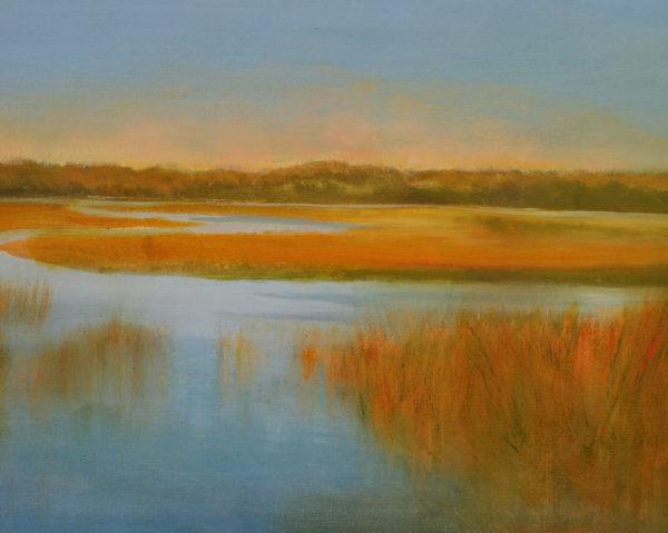 "Barbara Hamill, Marsh Ablaze, Oil, 14""x18"", $1,800"
