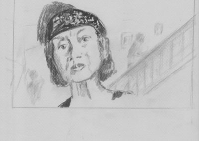 """Shelley Miner Robinson, Zoom Anxiety, Graphite on Paper (study for Oil), 8.5''x11"""", $100"""