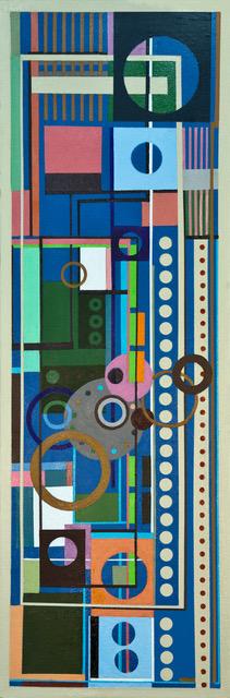 "Larry Gordon, A LITTLE MUSIC, Acrylic on Canvas, 12"" X 32"", $1,250"