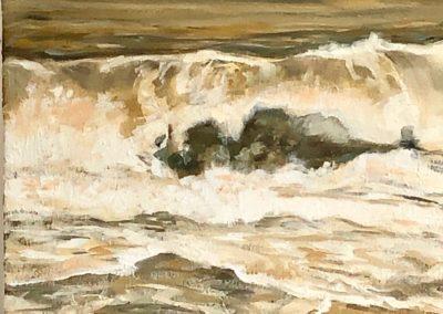 "Deborah Petrucci, Summer on my Mind, Oil on canvas, 14""x20"", $700"
